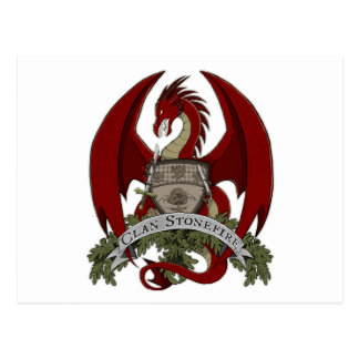 Clan Stonefire Crest (Red Dragon) Postcard