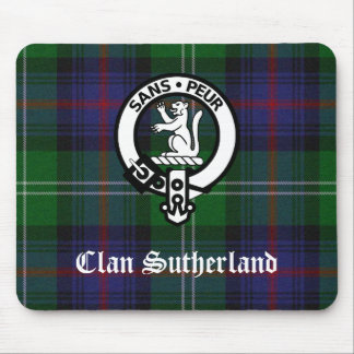 Clan Sutherland Crest & Tartan Mouse Pad
