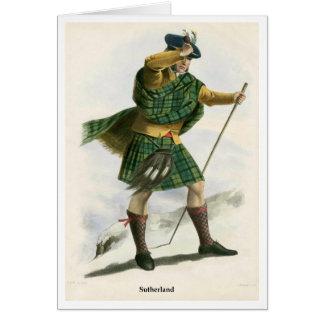 Clan Sutherland Tarjeta De Felicitación