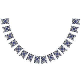 Clan tartán blanco y azul de Hannay