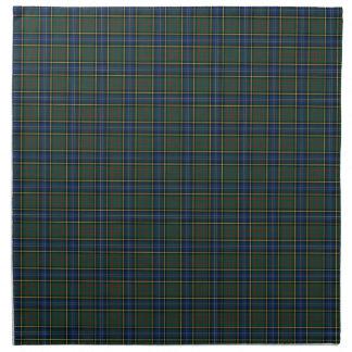 Clan tartán escocés azul y verde de MacMillan Servilletas