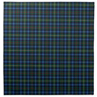 Clan tartán escocés azul y verde de Smith Servilleta De Papel