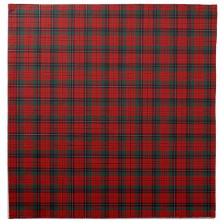 Clan tartán escocés rojo y negro de Nicolson Servilleta De Papel
