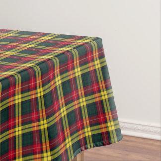 Clan tartán escocés verde y amarillo de Buchanan Mantel