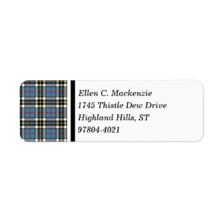 Clan Thompson Blue Dress Tartan Label