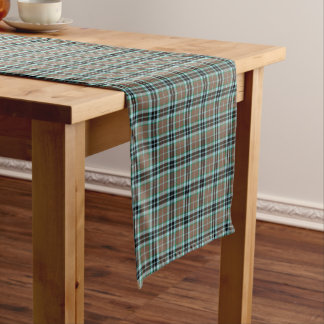 Clan Thompson Brown and Blue Hunting Tartan Short Table Runner