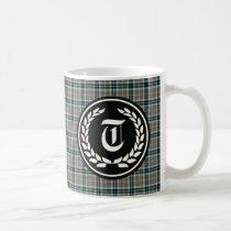 Clan Thompson Hunting Tartan Monogram Coffee Mug