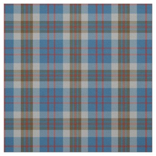 Clan Thompson Scottish Blue Tartan Plaid Fabric