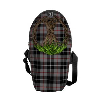 Clan Thompson Tartan And Celtic Tree Of Life Messenger Bag