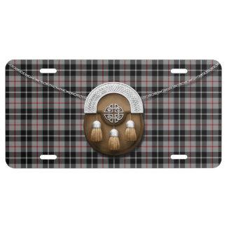 Clan Thompson Tartan And Sporran License Plate