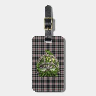 Clan Thompson Tartan Celtic Trinity Luggage Tag