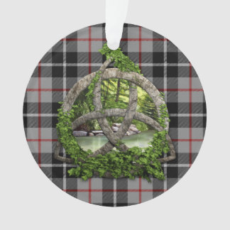 Clan Thompson Tartan Celtic Trinity Ornament