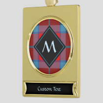 Clan Thompson Tartan Gold Plated Banner Ornament