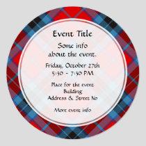Clan Thompson Tartan Invitation