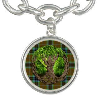Clan Thomson Tartan And Celtic Tree Of Life Charm Bracelets