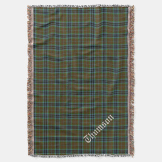 Clan Thomson Tartan Plaid Custom Throw Blanket