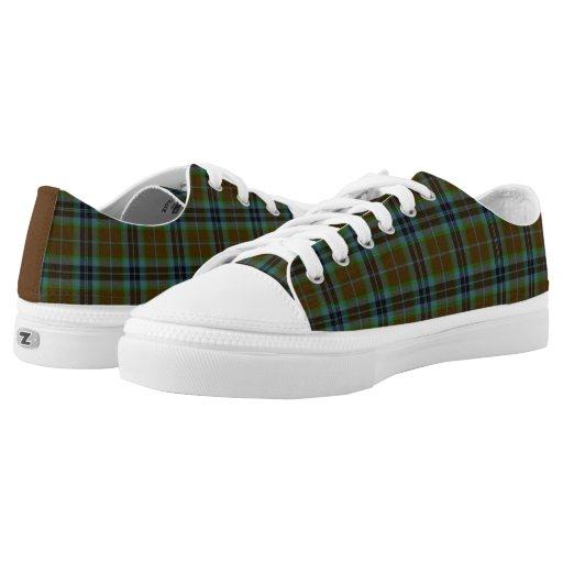 clan thomson tartan plaid tennis shoes printed shoes zazzle