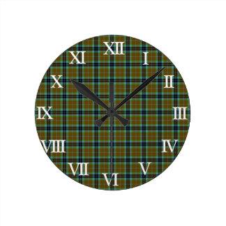 Clan Thomson Tartan Round Clock