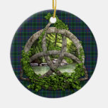 Clan Walker Tartan Celtic Trinity Double-Sided Ceramic Round Christmas Ornament