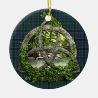 Clan Walker Tartan Celtic Trinity Ornaments