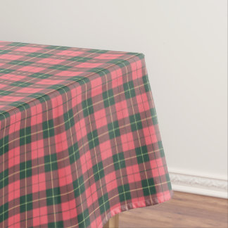 Clan Wallace Pink and Green Reproduction Tartan Tablecloth