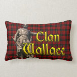 Clan Wallace Scottish Freedom Lumbar Pillow