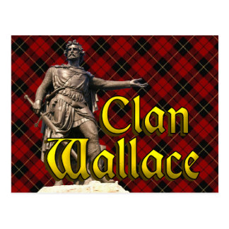 Clan Wallace Scottish Freedom Postcard
