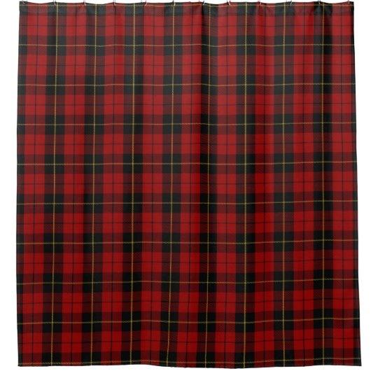 Clan Wallace Scottish Heritage Tartan Shower Curtain