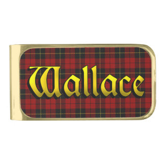 Clan Wallace Scottish Riches Gold Finish Money Clip