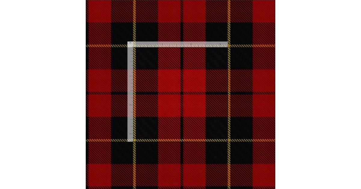 Clan Wallace Scottish Tartan Plaid Fabric Zazzle Com