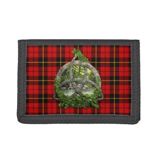 Clan Wallace Tartan Celtic Trinity Trifold Wallet