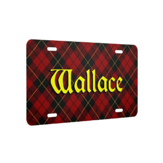 Clan Wallace Tartan Dream License Plate