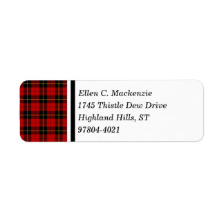 Clan Wallace Tartan Return Address Label