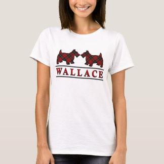 Clan Wallace Tartan Scottie Dogs T-Shirt