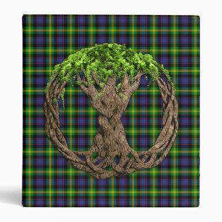 Clan Watson Tartan And Celtic Tree Of Life 3 Ring Binder