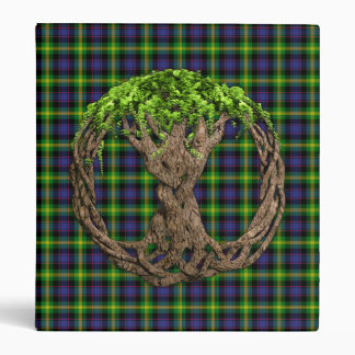 Clan Watson Tartan And Celtic Tree Of Life Binders