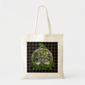 Clan Watt Tartan Celtic Trinity Tote Bag