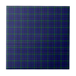 Clan Weir Tartan Small Square Tile