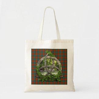 Clan Wilson Tartan Celtic Trinity Tote Bag