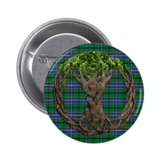 Clan Wishart Hunting Tartan And Celtc Tree Of Life Buttons