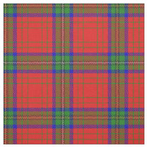 Clan Wood Red Dress Scottish Tartan Plaid Fabric