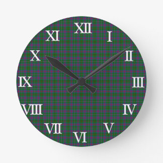 Clan Wood Tartan Round Clock