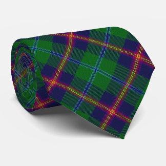 Clan Young Letter Y Monogram Tartan Neck Tie