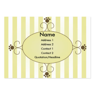 Clancey Fancy Pants Large Business Cards (Pack Of 100)