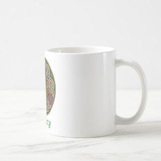 Clancy Celtic Knot Classic White Coffee Mug