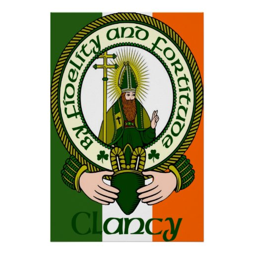 Clancy Clan Motto Poster Print
