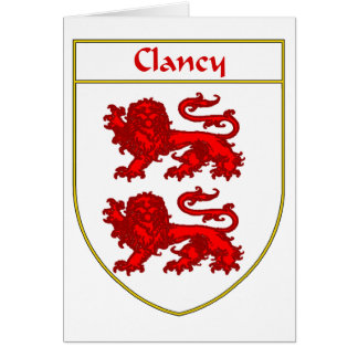 Clancy Coat of Arms/Family Crest Card