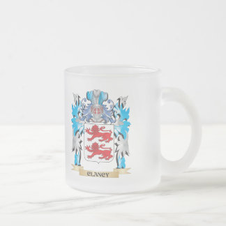 Clancy Coat of Arms - Family Crest 10 Oz Frosted Glass Coffee Mug