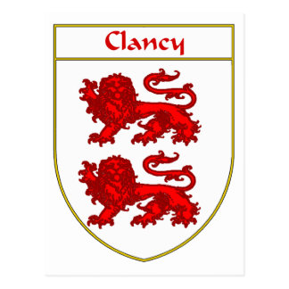 Clancy Coat of Arms/Family Crest Postcard