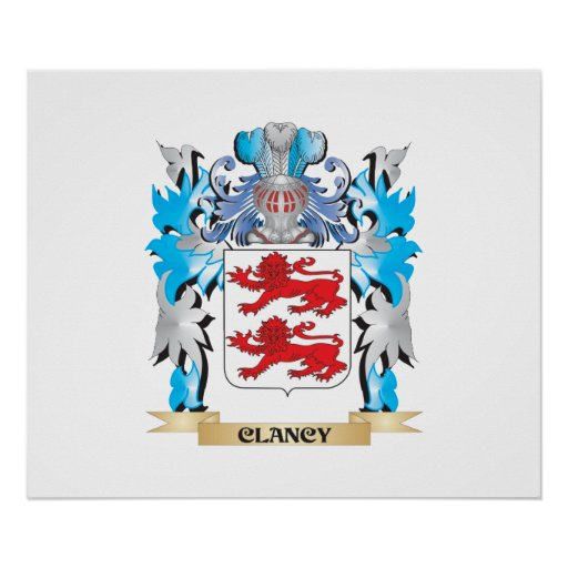 Clancy Coat of Arms - Family Crest Poster